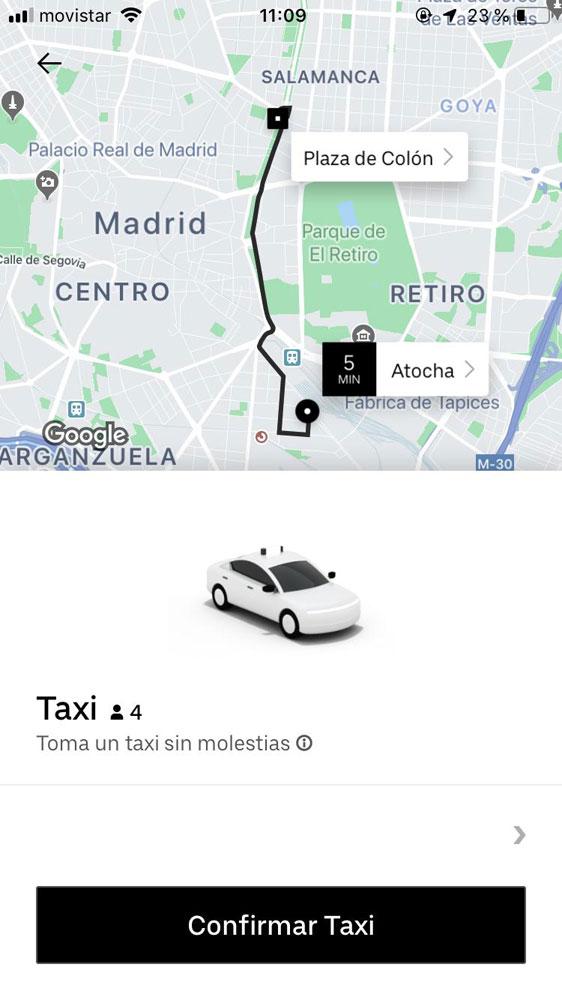 El avance de las nuevas apps en el taxi