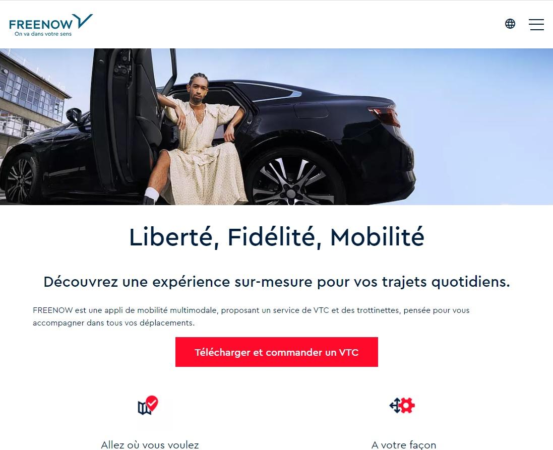 FREE NOW ya ofrece servicios de VTC en Francia