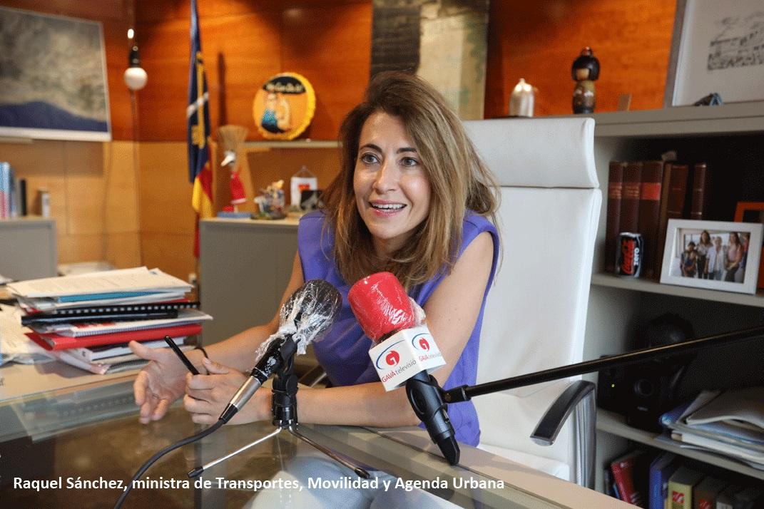 Raquel Sánchez, nueva ministra de Transportes